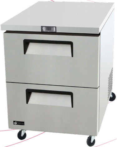 "2 drawer 27"" wide freezer"