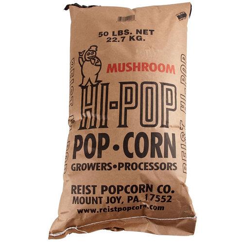 Reist Popcorn 50 lb. Bulk Bag of White Hi Pop Large Butterfly Popcorn Kernels