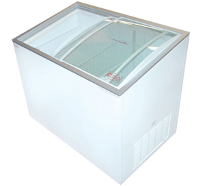 GLASS TOP CHEST FREEZER - 9.1 Cu.ft