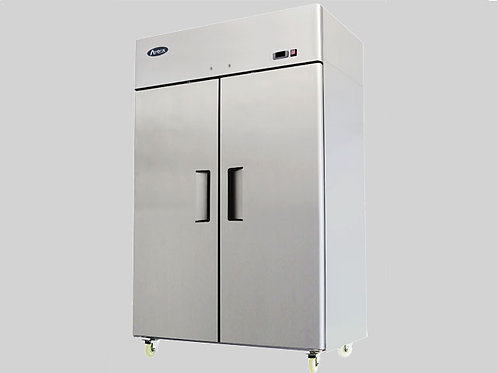 TWO DOOR STAINLESS STEEL FREEZER - TOP MOUNT