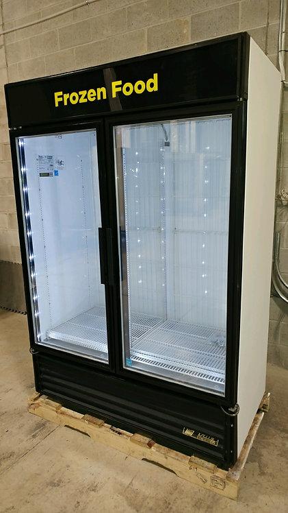 True 2 glass door upright display freezer