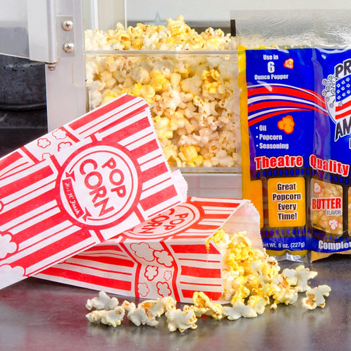 "Carnival King 3 3/4"" x 13  3/4"" x 9 1/2"" Popcorn Bag - 1000 / Case"