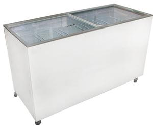 Ice Cream Flat Top Flat Lid Display Freezer - 15.5 Cu.ft