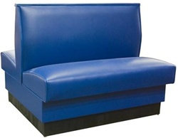 "STANDARD SINGLE  BOOTH SEATING -  46 WIDE X 42"" HIGH  VINYL - 6 COLORS"