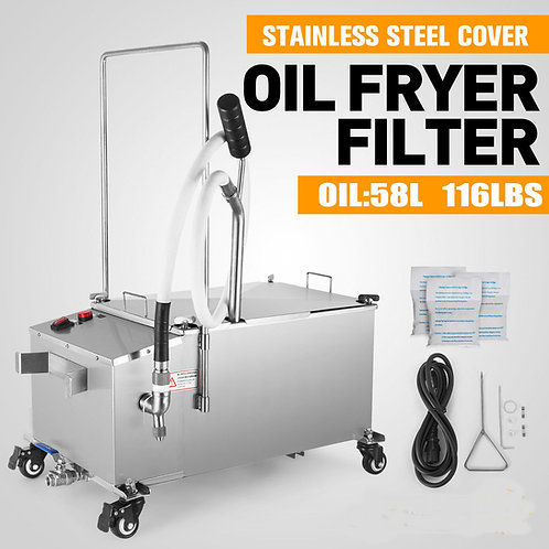 Deep Fryer Oil Filter 58L 116lb  Oil Filtration System - NEW - FREE SHIPPING