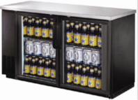"27"" deep glass door back bar - black -3 sizes to choose from"