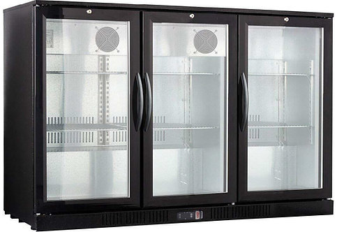 """53.1""""  Narrow 20.5"""" deep glass front back bar cooler"""