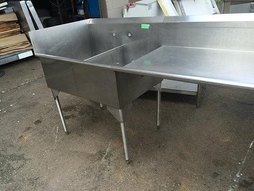 2 Compartment sink - right hand drain board