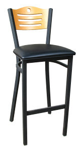BAR HEIGHT BISTRO CHAIR WITH PADDED SEAT