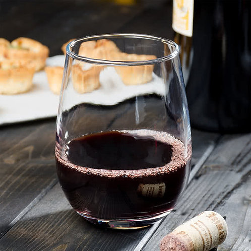 15 oz. Stemless wine  Glass - 12/case