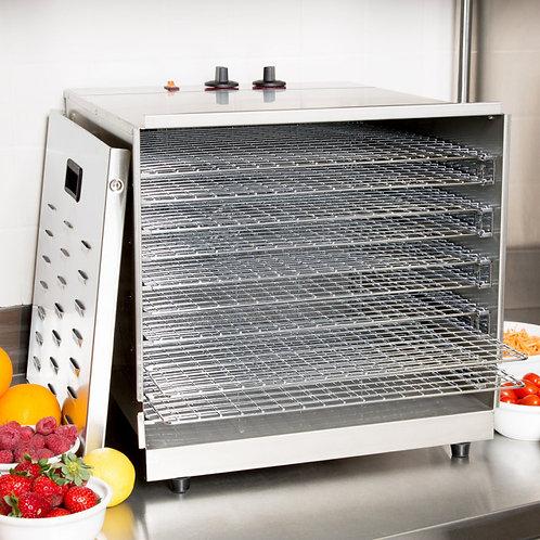 Ten Rack Stainless Steel Food Dehydrator with Removable Door - 1000W