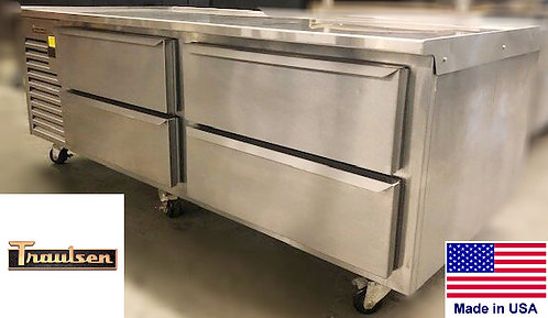 "72"" refrigerated chef base - 4 drawers"