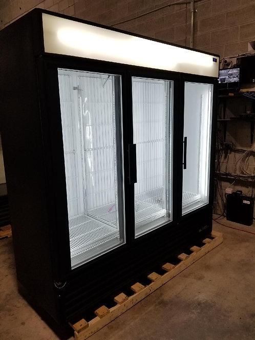 True 3 glass door upright display refrigerator