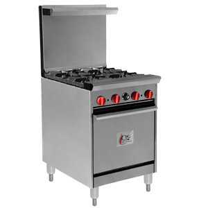 "4 BURNER GAS RANGE WITH STANDARD 20"" OVEN"