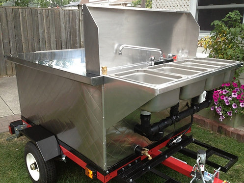 Hot dog cart - steam or babeque cooking