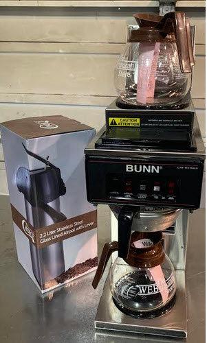 Bunn Plumb in Coffee Machines - bonus free airpot