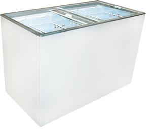 Ice Cream Flat Top Flat Lid Display Freezer - 12.5 Cu.ft