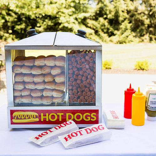 200 Dog / 48 Bun Hot Dog Steamer