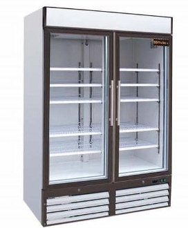 Door Refrigerated Pull Glass Reach-In Coolers 54""