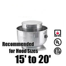 Restaurant Exhaust Fans:      MADE in USA     Direct Drive Upblast Exhaust Fan (