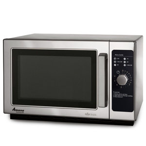 AMANA 1000 WATT COMMERCIAL MICROWAVE WITH DIAL CONTROL - STACKABLE WITH AIR FILT