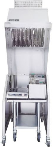 Ventless 2ft Package 15lb Fryer, 3000W Induction Range, Table