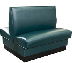 """STANDARD DOUBLE  BOOTH SEATING -  46 WIDE X 42"""" HIGH  VINYL - 6 COLORS"""