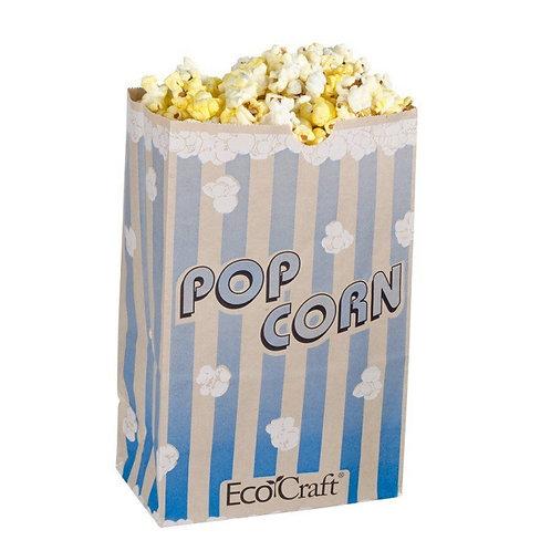 "Bagcraft Papercon 300612 5 1/2"" x 3 1/4"" x 8 5/8"" 85 oz. EcoCraft Popcorn Bag -"
