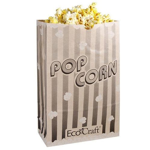 "Bagcraft Papercon 300611 4 1/4"" x 2 1/2"" x 8 1/4"" 46 oz. EcoCraft Popcorn Bag -"