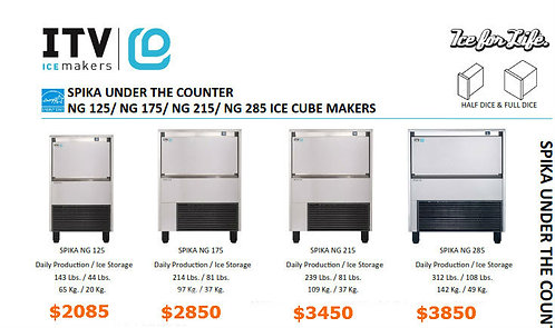 Spika series Ice machines - 4 to choose from
