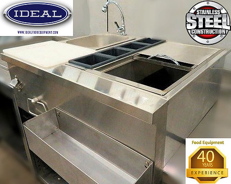 Bar sink combo - ice bin - speed rail - sink - opener & towel rack