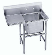 """18"""" Single Compartment Prep Sink  - Left Hand Drainboard -with approval sticker"""