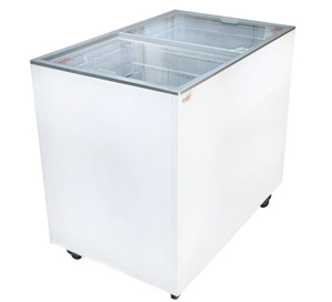 ICE CREAM FLAT TOP FLAT LID DISPLAY FREEZER - 9.6 Cu.ft