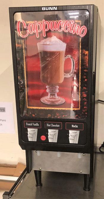 Bunn 3 flavor Hot Beverage Dispenser