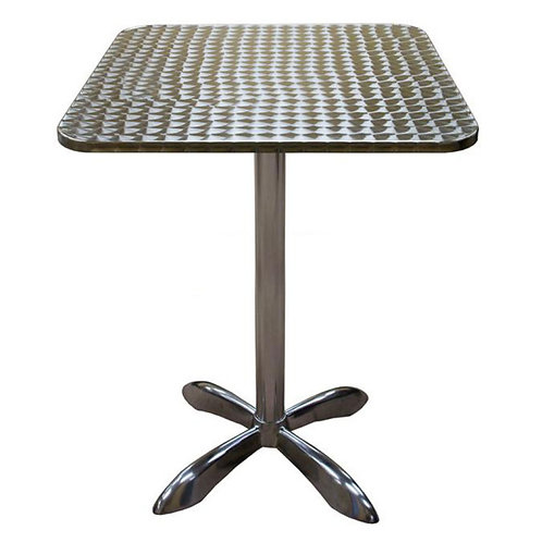 """27 1/2""""  SQUARE OUTDOOR ALUMINUM TABLE - BAR HEIGHT"""