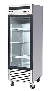 BOTTOM MOUNT SINGLE GLASS DOOR FREEZER * STAINLESS STEEL