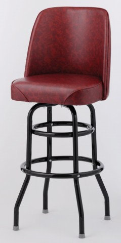 BAR STOOL  - 6 COLOR CHOICE  - BUCKET SEAT DOUBLE  RING - BLACK FRAME