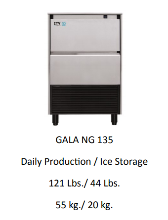 GLA NG135A UNDER COUNTER ICE MACHINE