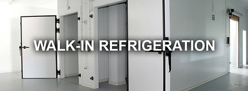 Walk in refrigeration coolers - assorted sizes