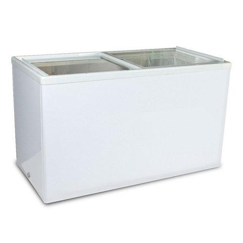 Sliding Glass Top Flat Lid Display Freezer - 10.6 Cu. Ft.