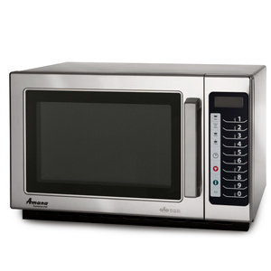 AMANA 1000 WATT COMMERCIAL MICROWAVE WITH PUSH BUTTON CONTROLS - STACKABLE WITH