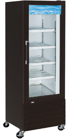 "28"" Swing Glass Door Black Merchandiser Refrigerator - Available in  black or wh"