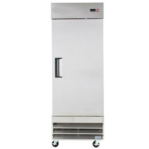"29"" Wide -  Narrow 25"" Depth One Section Solid Door Reach-In Refrigerator -"