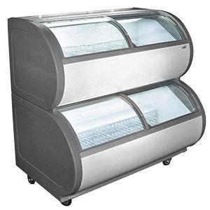 Dual Temperature Ice Cream Freezer Merchandiser - 15.9 Cubic Feet
