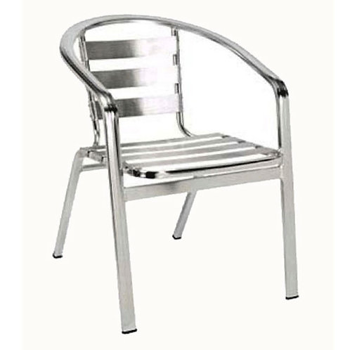 ALUMINUM OUTDOOR CHAIR SLAT BACK AND SEAT