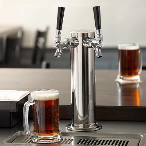 """Draft Beer taps - 2 Tap Tower - 3"""" Column"""