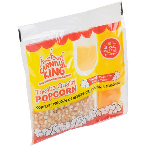 Carnival King All-In-One Popcorn Kit for 8 oz. to 10 oz. Poppers - 24 / Case