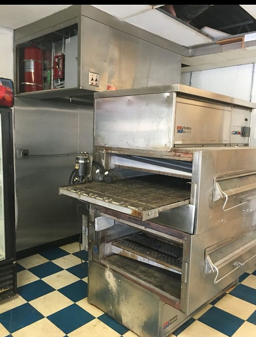 Middleby Marshall PS 260 WB Double Stack Gas Conveyor Pizza Oven