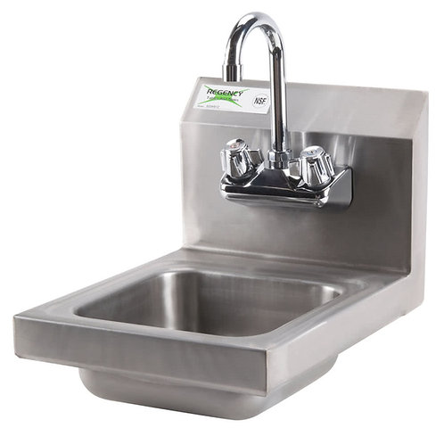 "12"" WIDE HAND SINK - COMES WITH FAUCET"