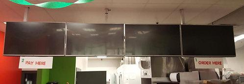 4 menu monitors -